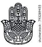 rnate amulet hamsa hand of... | Shutterstock .eps vector #793289455