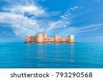 the maiden's castle  kiz kalesi ... | Shutterstock . vector #793290568