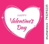 valentines day card design.... | Shutterstock .eps vector #793293235