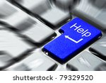 Blue Help Button On The Keyboard