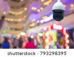 modern cctv security camera in... | Shutterstock . vector #793298395