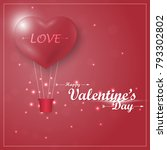 valentine's day card with... | Shutterstock .eps vector #793302802