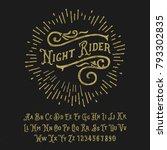 original handmade alphabet.... | Shutterstock .eps vector #793302835