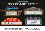 vector sale signboard. retro... | Shutterstock .eps vector #793305232
