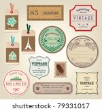 illustration retro label ... | Shutterstock .eps vector #79331017