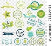 set of labels for vegans ... | Shutterstock .eps vector #793314496