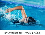 professional swimmer  swimming... | Shutterstock . vector #793317166