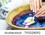top care manicure. woman hands... | Shutterstock . vector #793328092
