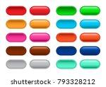 click here button vector set | Shutterstock .eps vector #793328212