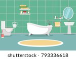 bathroom with furniture.... | Shutterstock .eps vector #793336618