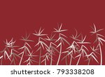 leaves pattern. bamboo leaves....   Shutterstock .eps vector #793338208