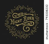 vintage composition night rider.... | Shutterstock .eps vector #793338232