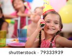 young girl at a child's... | Shutterstock . vector #79333939