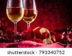 valentines or wedding concept.... | Shutterstock . vector #793340752