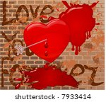 valentines grunge background... | Shutterstock .eps vector #7933414