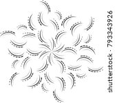ornament card with mandala.... | Shutterstock .eps vector #793343926