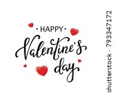 happy valentines day typography ... | Shutterstock .eps vector #793347172