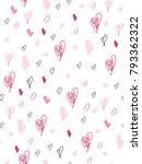 vector seamless valentine's day ... | Shutterstock .eps vector #793362322