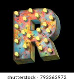 metal painted retro sign lamp... | Shutterstock . vector #793363972