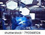 day to day work of surgeon team ... | Shutterstock . vector #793368526