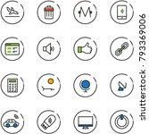 line vector icon set   arrival... | Shutterstock .eps vector #793369006