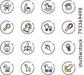 line vector icon set   baby...   Shutterstock .eps vector #793369498