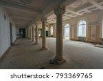 inside of old creepy abandoned... | Shutterstock . vector #793369765