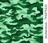 green monochrome camouflage... | Shutterstock .eps vector #793375222