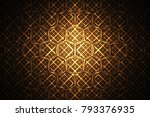 abstract intricate geometric... | Shutterstock . vector #793376935