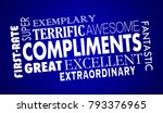 compliments word collage great... | Shutterstock . vector #793376965