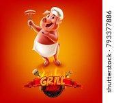 pig menu bbg | Shutterstock .eps vector #793377886