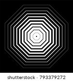 octagons with zooming effect ... | Shutterstock .eps vector #793379272