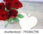 love concept for valentine's... | Shutterstock . vector #793381798