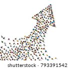 large group of people in the... | Shutterstock .eps vector #793391542