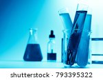 modern laboratory with chemical ... | Shutterstock . vector #793395322