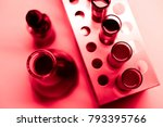 modern laboratory with chemical ... | Shutterstock . vector #793395766