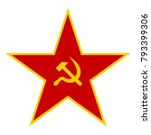 red star of the soviet army... | Shutterstock .eps vector #793399306