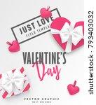 valentines day banner. romantic ... | Shutterstock .eps vector #793403032