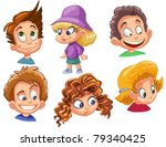 characters funny kids on a... | Shutterstock .eps vector #79340425