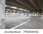 underground park of a mall with ... | Shutterstock . vector #793404442