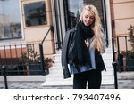 close up fashion woman portrait ... | Shutterstock . vector #793407496