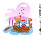 postcard fragment day of love... | Shutterstock .eps vector #793408438