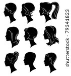 vector collection of hairstyles | Shutterstock .eps vector #79341823