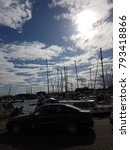 Small photo of A harbor accompanied by a cloudy, deep-blue sky. It's a sight to behold.