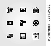 technology vector icons set.... | Shutterstock .eps vector #793419112