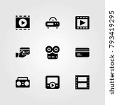 technology vector icons set.... | Shutterstock .eps vector #793419295