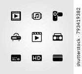 technology vector icons set.... | Shutterstock .eps vector #793419382