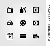 technology vector icons set.... | Shutterstock .eps vector #793419922