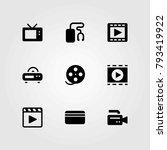 technology vector icons set.... | Shutterstock .eps vector #793419922