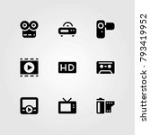 technology vector icons set. hd ... | Shutterstock .eps vector #793419952